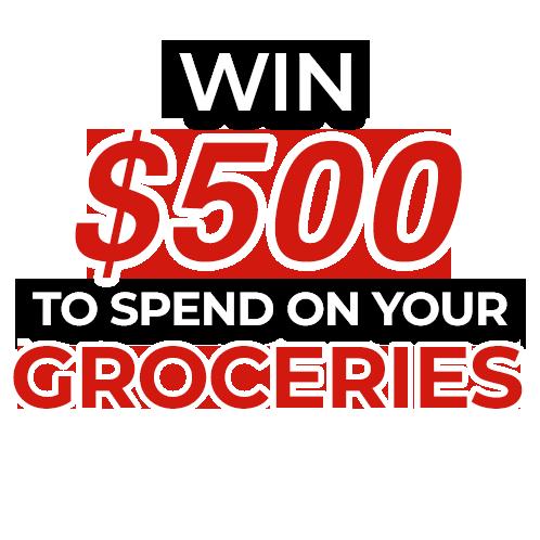 $500 Grocery Shopping voucher