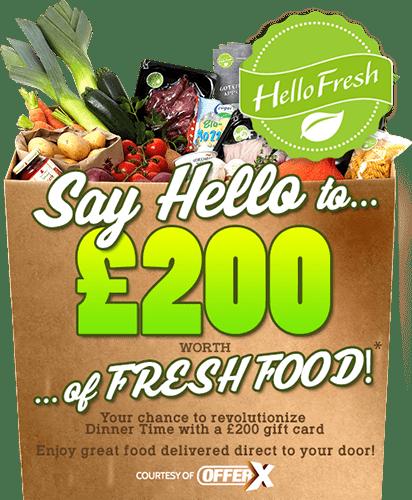 £200 Hello Fresh gift card