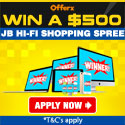 Win $500 to spend at  JB Hifi