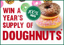 Win a years supply of Doughnuts