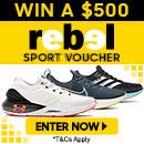 Win a $500 Rebel Sport Voucher