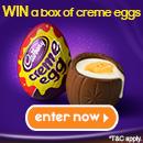 Win a box of Creme Eggs