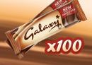 Win 100 Galaxy chocolate bars
