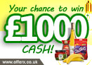 Win £1000 to spend in either Morrisons or Sainsbury's