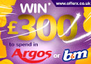 Win £300 of Argos or B&M vouchers