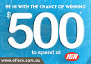 Win $500 cash to at Kmart
