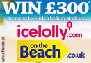 Win £300 cash to spend at Onthebeach or Icelolly