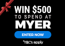 Win $500 cash to spend in Myer or Target