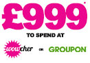 Win £999 cash to spend in £999 Groupon or Wowcher