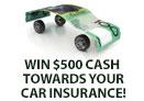 Win $500 cash towards car insurance