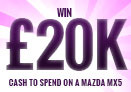 Win £20,000 to buy a Mazda MX-5