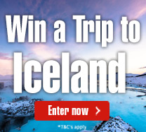Win a trip to Iceland