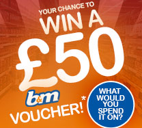Win £50 to spend at B&M