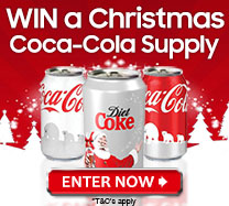 Win a Christmas Coca Cola supply