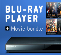 Win a Samsung Blu Ray DVD player and DVDs