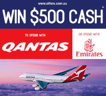 Win $500 cash to spend with Qantas or Emirates
