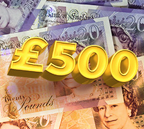 Win £500 cash