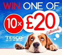 Win one of x10 Tesco £20 Gift Card