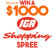 Win $1000 cash to spend in IGA