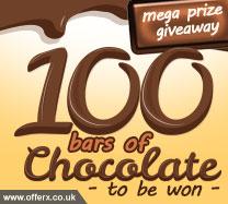 Win 100 chocolate bars!