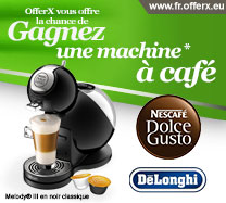 Gagnez une machine à café Nescafé Dolce Gusto