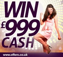 Win £999 cash