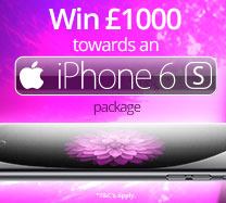 Win £1000 cash towards an iPhone6s