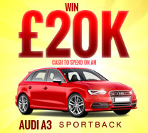 Win £20,000 to buy an Audi A3