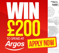 Win £200 to spend at Argos
