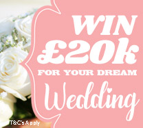 Win £20,000 towards your Dream Wedding