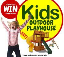 Win an Outdoor Kids playhouse