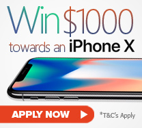 Win $1000 towards the iPhone X