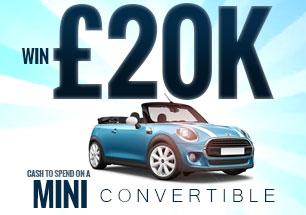 Win £20,000 to buy a Mini Convertible