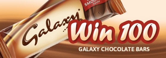 100 Galaxy chocolate bars