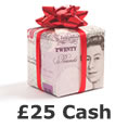 Win £25 cash today!