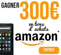 Gagnez 300 € en bons d'achat sur Amazon
