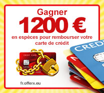 Gagner 1200 € en espèces pour rembourser votre carte de crédit