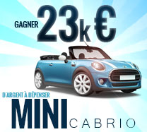 Gagnez 23,000€ pour acheter une Mini Cabriolet