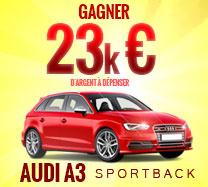 Gagnez 23,000 € pour acheter une Audi A3
