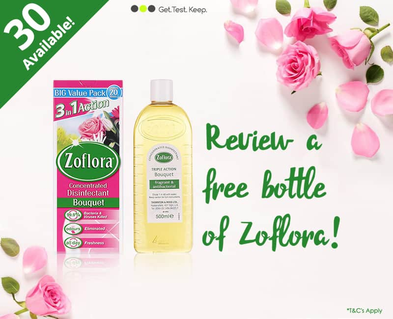 Review a free bottle of Zoflora