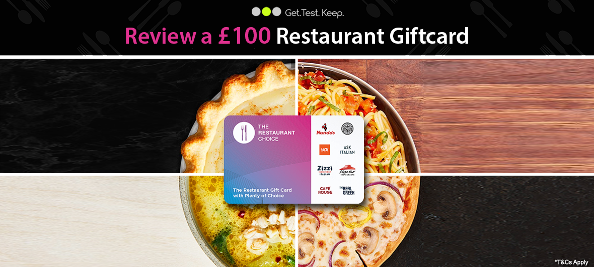 Review a Restaurant Giftcard