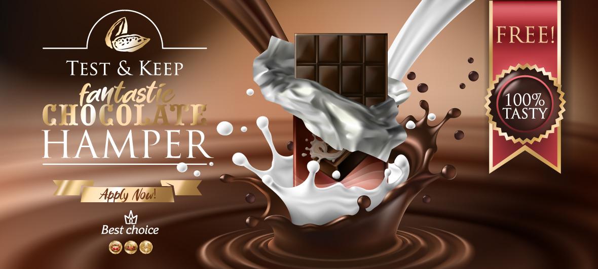 Test and Keep a fantastic chocolate hamper