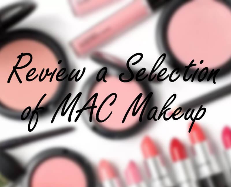 Review a goody bag of MAC cosmetics