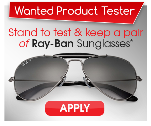 Review a pair of RayBan sunglasses