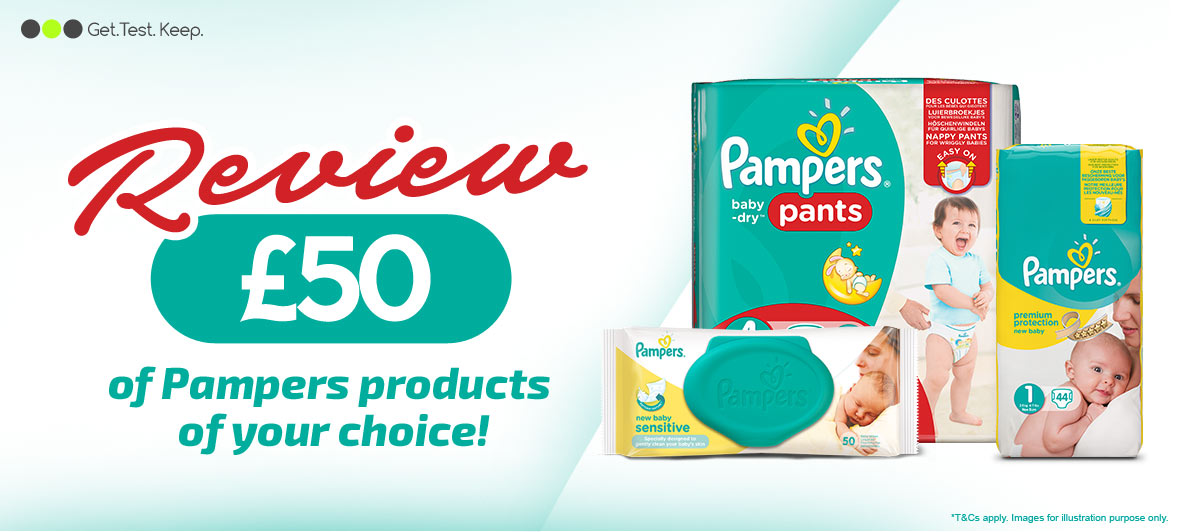 review £50 worth of Pampers Products