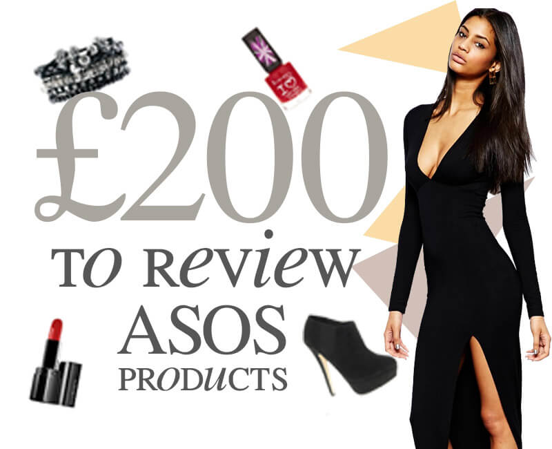 Review ASOS with £200!