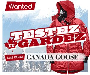 Testez et gardez une parka Canada Goose